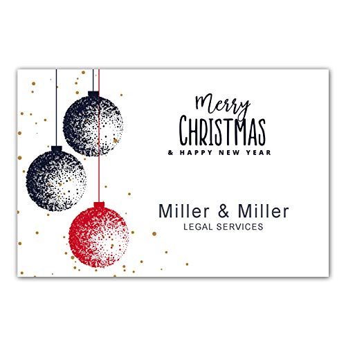 30 Christmas greeting card ornament personalized family or business photo paper