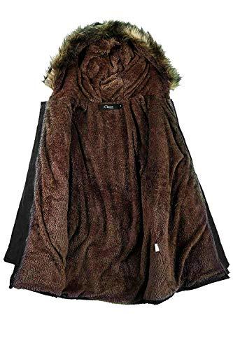 Chaud En Doublé Pour Coton D'hiver Iclosam De Femmes Noir Manteau Polaire Ox4f5