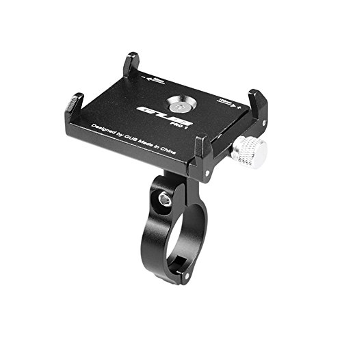 GUB Mountian Bike Phone Mount - Universal Adjustable Bike Mount Cell Phone GPS Mount Holder Rotating Cradle Clamp for Mountain Bike Motorbike,iPhone Samsung Android All Smartphones (BLACK PRO1)