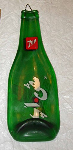 Vintage 7-Up Soda Flattened Bottle with Japanese Writing Bar Cutting Board or Spoon Rest by Melanie's Glass Art