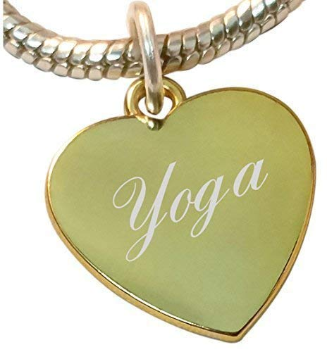 Colgante de corazón con Yoga, compatible con joyas pandora y ...