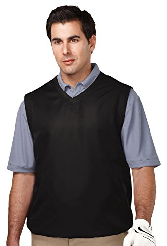 Tri Mountain Big and Tall Windproof Water-Resistant Vest,Black - Windproof Mens Vest