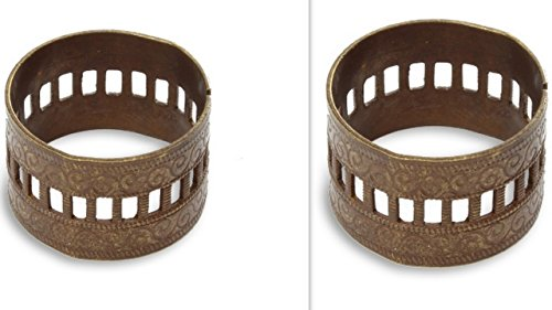 (Vintaj Scrolled Ring Bases - Adjustable RB001 - 20x13mm, Jewelry Making & Scrapbooking. Great for Layering, Wrapping or Use As a Creative Base.)
