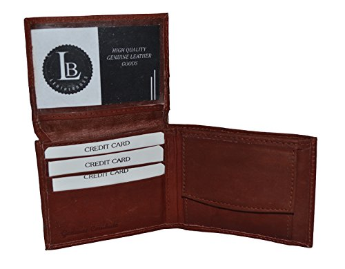 Boys Slim Compact Flap Id and Coin Pocket Bifold Wallet