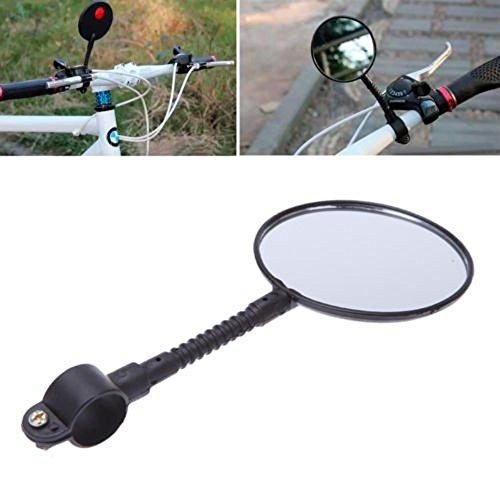 (LtrottedJ Quality Bike Bicycle Handlebar Flexible Rear Back View Rearview Mirror Black)