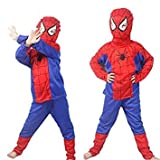 TONY STARK ® Mind Masala Spiderman Costume For Kids For Fancydress Halloween Cosplay (small 2-4 years)