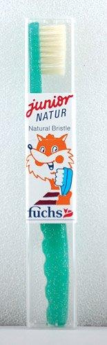 Fuchs Junior Natur Natural Bristle Child Medium Toothbrush -- 1 Toothbrush - 3PC