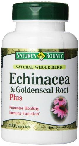 Природы Bounty натурального цельного Herb Echinacea Goldenseal Plus, 100 капсул