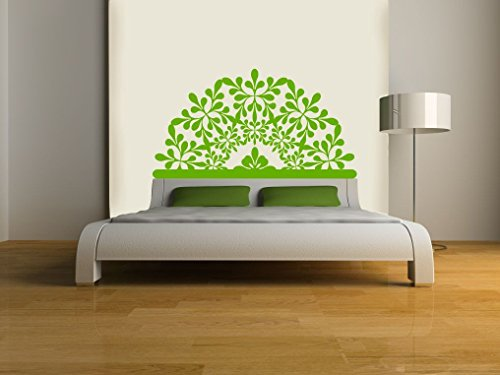 Eyval Decal Hawaii Headboard Vinyl Wall Decal, Queen, Lime Green by Eyval Decal