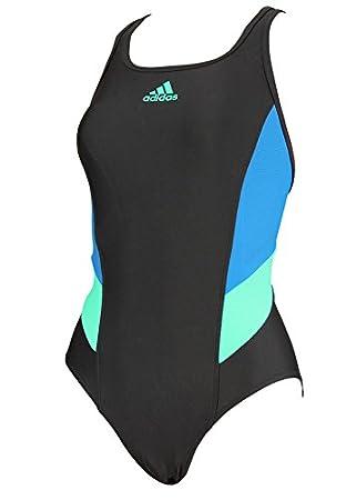 7ca0e699e0 adidas Womens Colorblock Swimsuit - Black Unity Blue  Amazon.co.uk  Sports    Outdoors