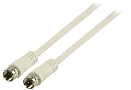 Valueline VLSP41000W15 - Cable coaxial (Coax, Macho/Macho, Coax, Color blanco
