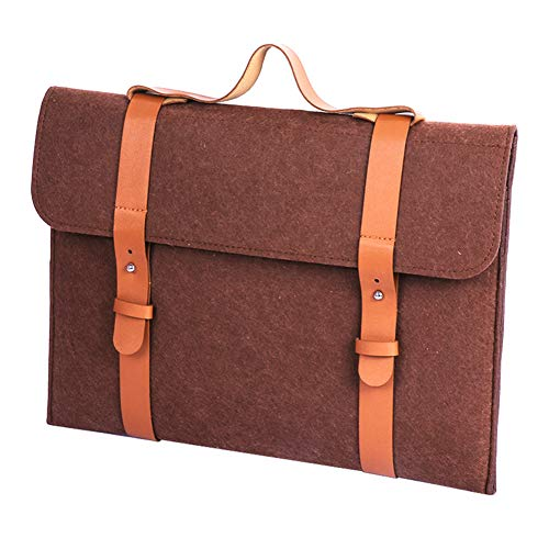 Soyan 13-Inch Ultra Light and Slim Felt Laptop Sleeve Case Bag Compatible with MacBook Air/Pro, Surface Pro, Surface Book (Brown)