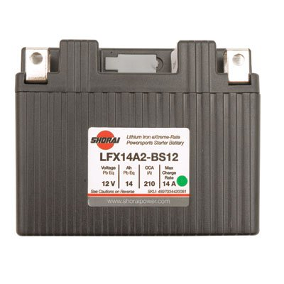 Shorai Lithium-Iron Battery LFX14L2-BS12 for Honda CRF450X 2005-2009