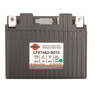 Battery LFX14L2-BS12 for Yamaha YFZ450R 2009-2018 ()
