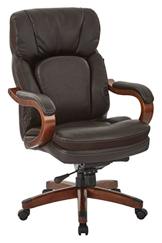 INSPIRED by Bassett Van Buren Knee Tilt Executive Chair, Brown - Knee Tilt Executive Chair