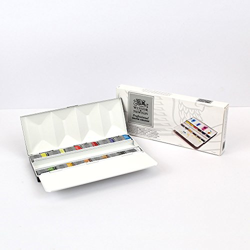 - W&N Watercolour : Deluxe 12 Full Pan Heavyweight Metal Sketchers Box