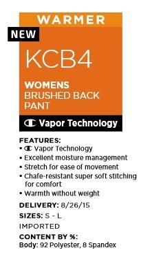 Duofold Women's Mid Weight Fleece Lined Thermal Legging, Cool Blue/Multi Blurred Stripe, Medium