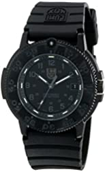 Luminox Men's 3001.BO Quartz Rubber Black Dial Watch