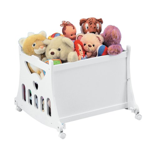 Badger Basket Half Skirt Portable Bassinet 'N Cradle with Toybox Base, White by Badger Basket (Image #2)