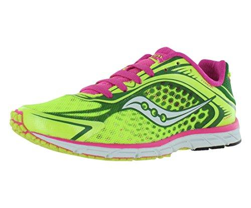 Saucony Women's Type A5 Running Shoe,Citron/Pink,5.5 M US