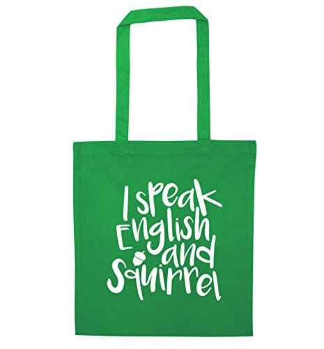 bag I speak tote Green I speak and squirrel english qwggp0