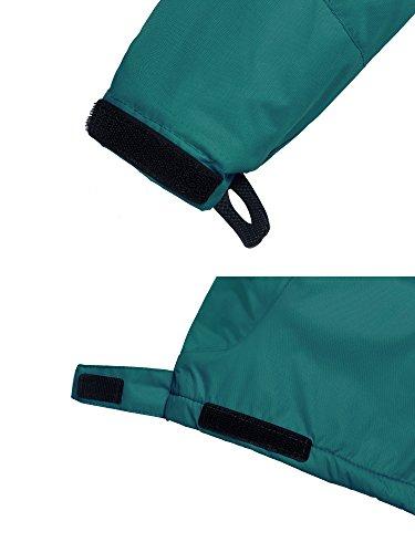 Wantdo Boy's Windproof Skiing Jacket Fleece Lined Hoodies Short Parka Rainwear(Blackish Green, 10/12) by Wantdo (Image #6)