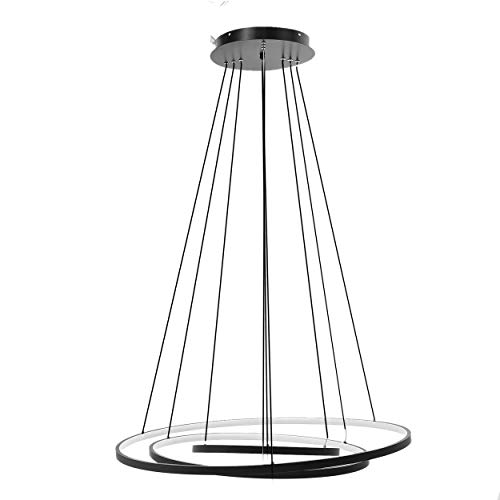 Pendant Elegance Light Three - Stylish 3 Rings LED Chandelier Contemporary Pendant Light Fashion Hanging Ceiling Lamp Light Fitting for Living Room