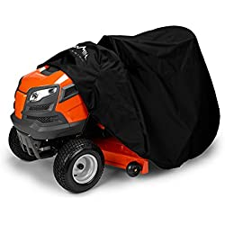 "Himal Outdoors Lawn Mower Cover -Tractor Cover Fits Decks up to 54"" Storage Cover Heavy Duty 210D Polyester Oxford, UV Protection Universal Fit with Drawstring & Cover Storage Bag (2018 New Upgrade)"