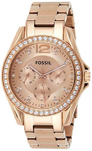 Fossil Women's Riley Stainless Steel Multifunction Glitz Quartz Watch 1