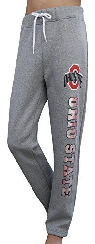 Golden Zone Women's Ohio State Buckeyes Sporty Sweatpants Pajamas Trousers - Grey (Size: XXL) (Ohio State Pajama)