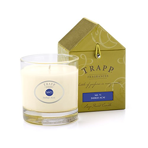 Crystal Berry Bowl (Trapp Signature Home Collection No. 71 Indigo Acai Poured Scented Candle, 7-Ounce)