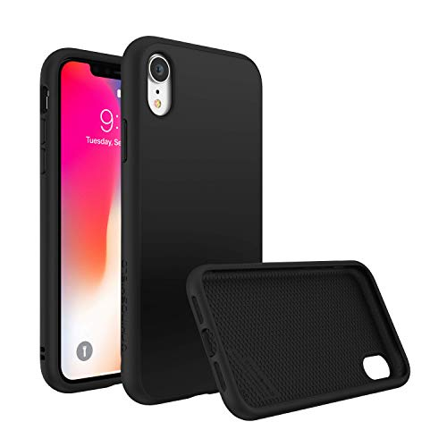 RhinoShield Ultra Protective Phone Case [ iPhone XR ] SolidSuit, Military Grade Drop Protection for Full Impact, Supports Wireless Charging, Slim, Scratch Resistant, Classic Black
