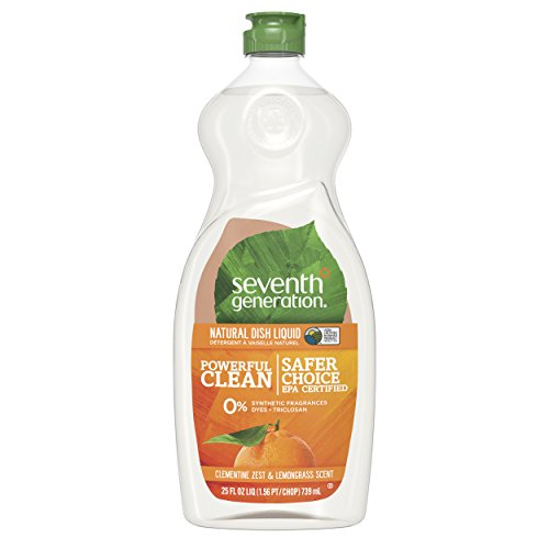 Dawn Dish - Seventh Generation Dish Liquid Soap, Clementine Zest & Lemongrass Scent, 25 oz, Pack of 6 (Packaging May Vary)
