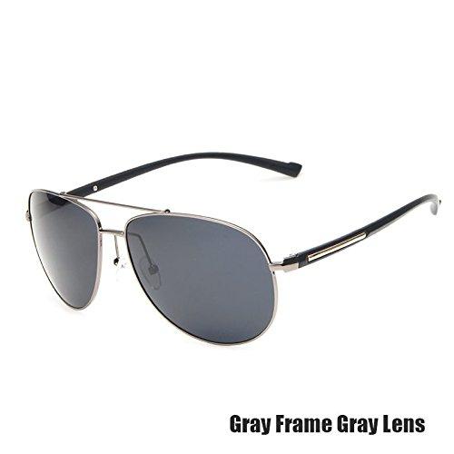 Lentes TIANLIANG04 Gris Muy Hombres Guía Polarizados Para Piloto De Uv400 GRAY Gafas Oscuro De Vidrios Aviador Sol De Guay Color Revestimiento GRAY Verde Espejo rwHqrC8xa