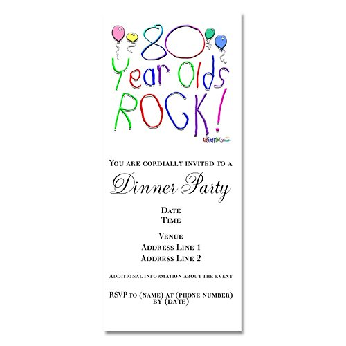 CafePress - 80 Year Olds Rock ! - Invitations Matte -