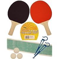 HENBRANDT 2 PLAYER TABLE TENNIS SET 2 Bats Net 3 Balls ping pong set
