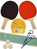 2 PLAYER TABLE TENNIS SET 2 Bats Net 3 Balls ping pong set