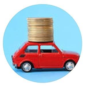 alfombrilla de ratón Monedas en el coche en miniatura roja - ronda - 20cm