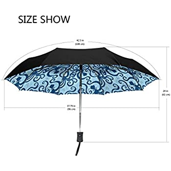 7d137abaff60 Amazon.com : Aideess Outer Black Umbrella Marijuana UV Anti ...