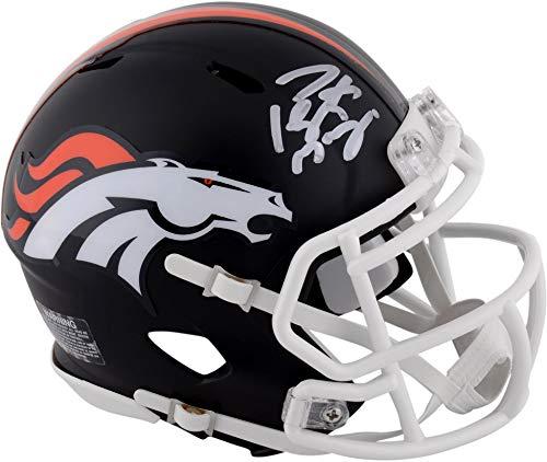 Peyton Manning Denver Broncos Autographed Riddell Black Matte Alternate Speed Mini Helmet - Fanatics Authentic Certified ()