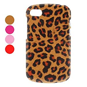 Warm-toned Leopard Print PC Hard Case for BlackBerry Q10 (Assorted Colors) --- COLOR:Rose