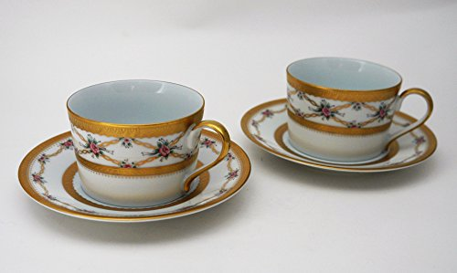 Set of 2 Faberge Fine China Tea Cup and Sauser