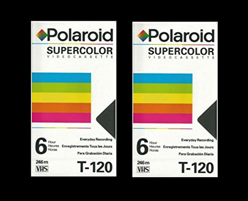 Polaroid Supercolor VHS T-120 2pack