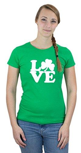 IRISH SHAMROCK LOVE Ladies' T-shirt / St Patrick's Day Irish Pride Tee Shirt