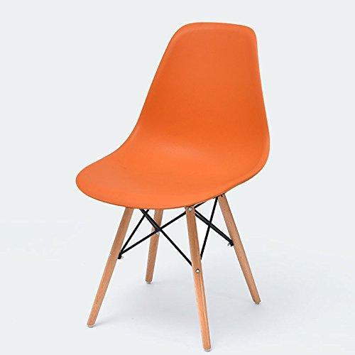 近代的なミニマリストの背もたれの椅子、ホームデスクチェアレイジークリエイティブチェア、ノルディックダイニングチェア ( Color : Orange ) B07BJ3ZV1BOrange