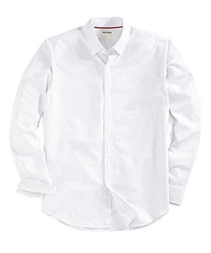 Goodthreads Men's Standard-Fit Long-Sleeve Striped Oxford Shirt