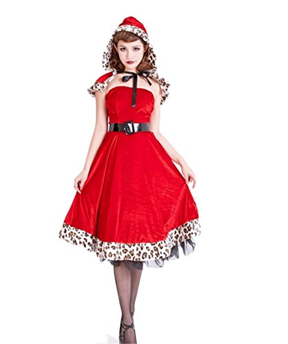Bonamana Women Sexy Little Red Riding Hood Costume Party dress For Halloween (Small) (Little Red Riding Hood Cosplay)
