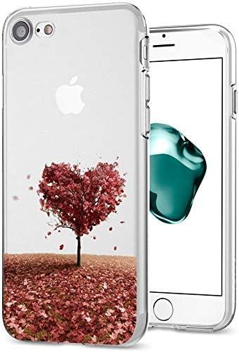 Caler H/ülle Kompatible iPhone 8//iPhone 7 Handyh/ülle Soft Silikon H/ülle Ultra D/ünn TPU Bumper Case 360 Grad Ring Stand Magnetische KFZ-Halterung Autohalterung Schutzh/ülle f/ür Transparent Anti-Kratzer