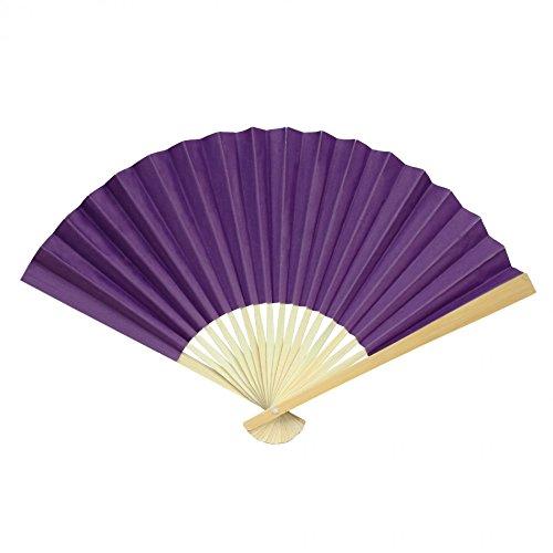 Koyal Wholesale Paper Fans, Royal Purple 10-Pack DIY Hand Held Fans, Party Favor, Wedding Decorative Fans, Wedding Favors, Church Fans