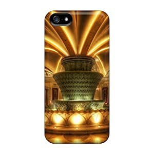 Hot Fountain In A Las Vegas Hotel Lobby Hdr First Grade Phone Cases For Iphone 5/5s Cases Covers